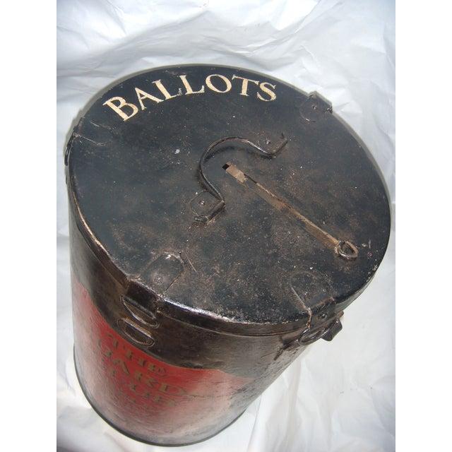 English Painted Metal Ballot Box - Image 7 of 10