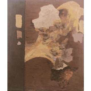 'Abstract in Ochre and Umber' by Phyllis Lanham, California Woman Artist, Palo Alto, San Jose, Earth For Sale