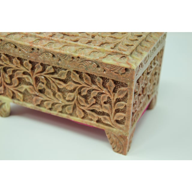 Stone Hand-Carved Stone Jewelry Box Rajasthan, India For Sale - Image 7 of 13