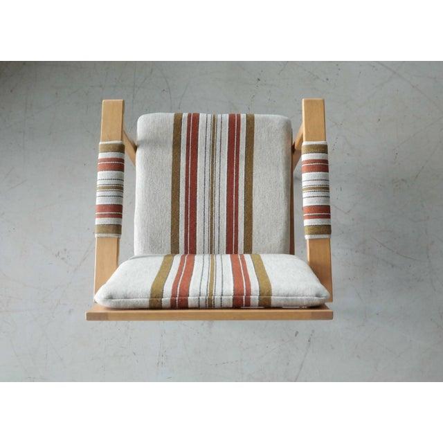 Fabric 1960s Børge Mogensen Model 2257 Oak Lounge Chair for Fredericia Stolefabrik For Sale - Image 7 of 11