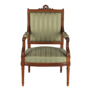 Early 1900s French Louis XVI Style Desk Armchair
