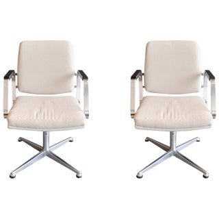 Pair of Vintage Office Swivel Chairs For Sale