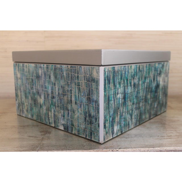 Modern Peruvian Reverse Glass Boxes - a Pair For Sale - Image 3 of 13