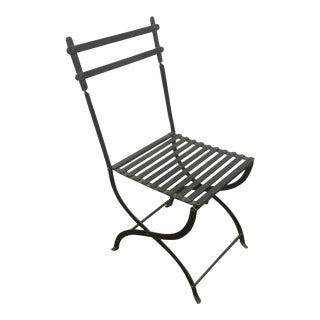 Folding Iron Garden Chair