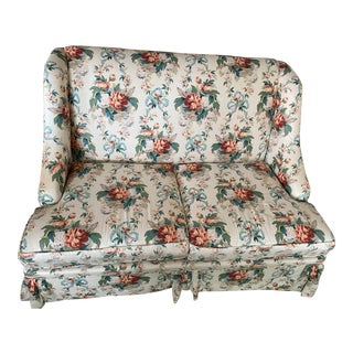 Classic Lee Joffa Floral Print Loveseat For Sale