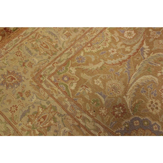 Textile Pak-Persian Jenise Lt. Brown/Lt. Tan Wool Rug - 4'7 X 6'11 For Sale - Image 7 of 8