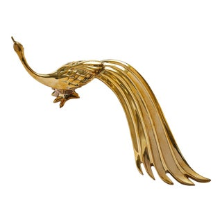 Peacock Polished Brass No Lacquer - Right Door Pull For Sale