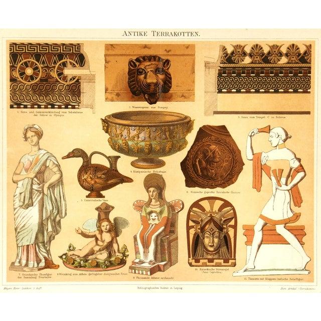 1880 Antique Decorative Ancient Terracotta Print - Image 1 of 3