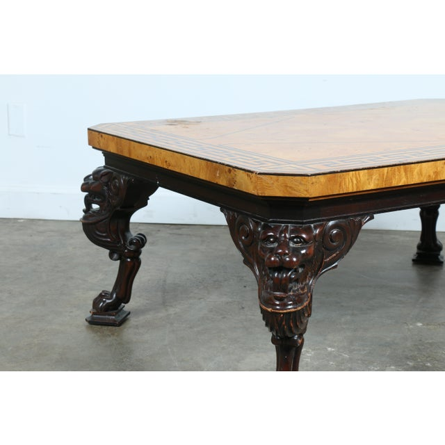 Baker Burlwood Coffee Table - Image 7 of 11