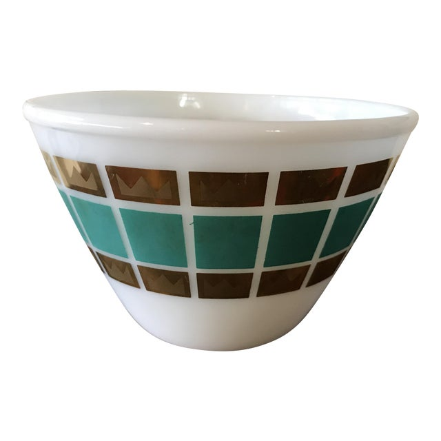 1950's Fred Press Fire King Bowl For Sale