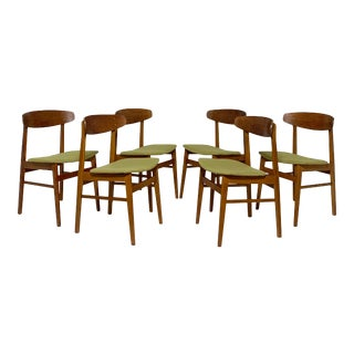 C. 1960s Danish Teak Dining Chairs by Sax - Set of 6 For Sale