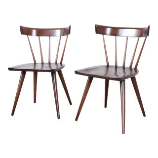 Paul McCobb Newly Refinished Planner Group Dining Chairs, Pair For Sale