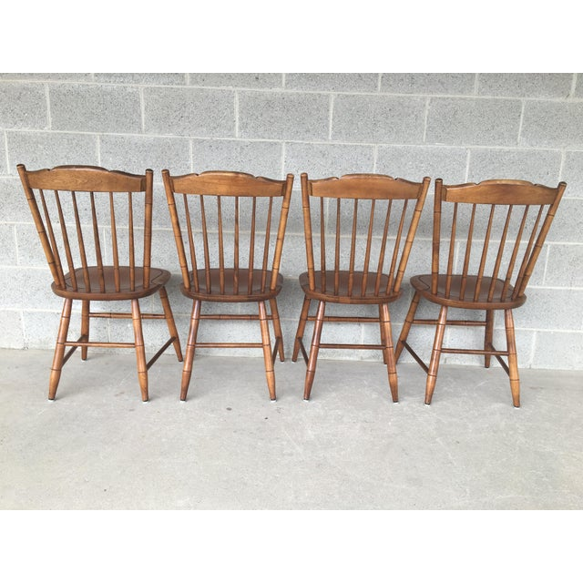 Hitchcock L. Hitchcock Maple Harvest Stonington Windsor Side Chairs - Set of 4 For Sale - Image 4 of 11