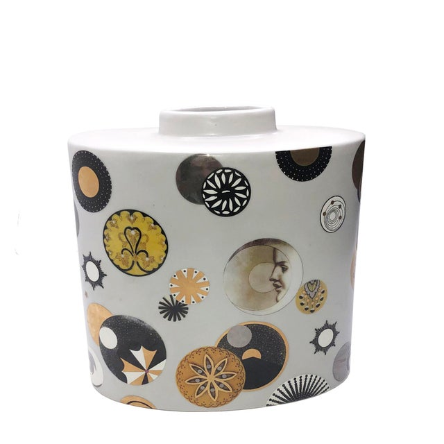 Ceramic Mid Century French Porcelain Vase by Fabienne Jouvin For Sale - Image 7 of 7