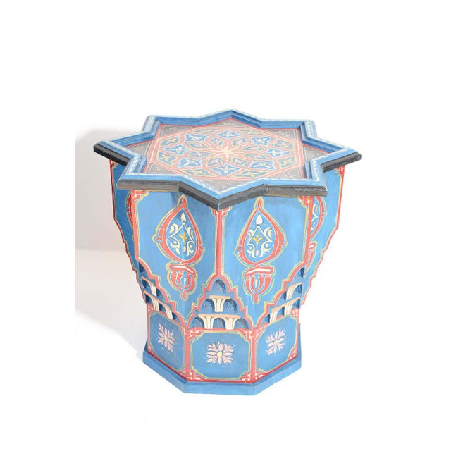 Moorish Star Shape Blue Side tables - A Pair For Sale - Image 11 of 13