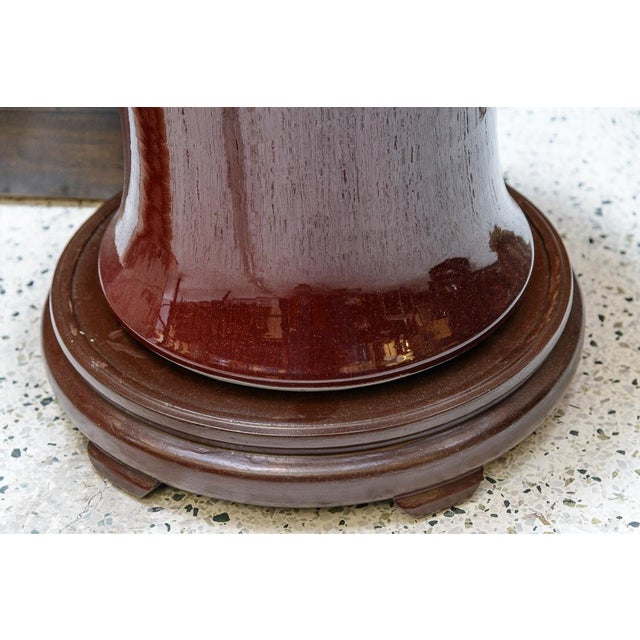 Large Oxblood Floor Vases - a Pair For Sale In West Palm - Image 6 of 7