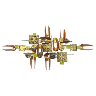 William Vose Mid-Century Metal Wall Sculpture For Sale