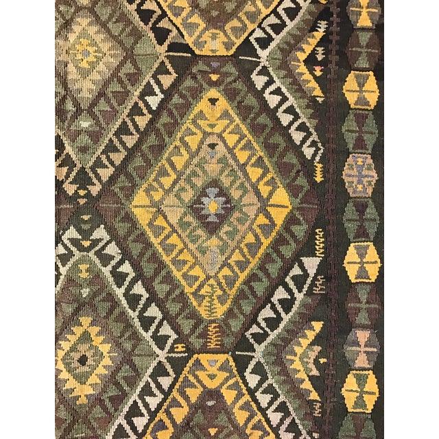 Vintage Anatolian Kars Kilim Rug - 4′8″ × 14′8″ - Image 5 of 8