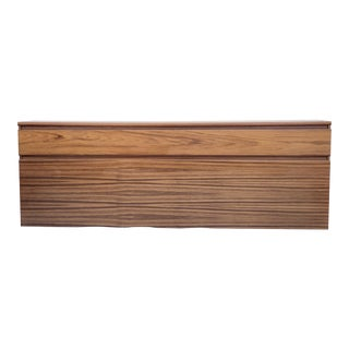 Scandinavian Modern King Size Teak Headboard For Sale