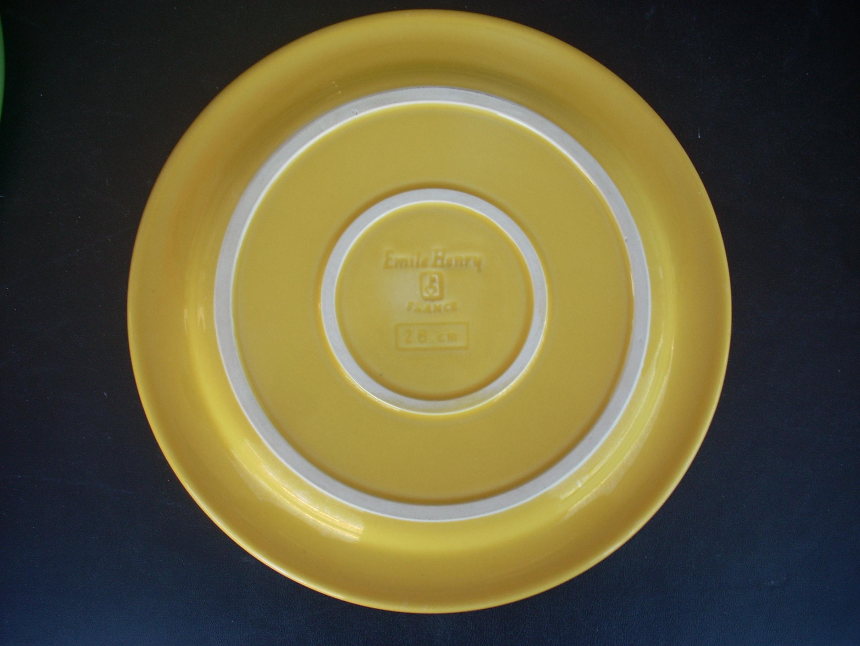 Emile Henry Yellow Dinner Plates - Set of 4 - Image 3 of 4  sc 1 st  Chairish & Emile Henry Yellow Dinner Plates - Set of 4 | Chairish