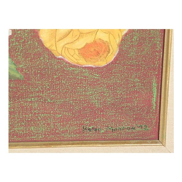 Golden Roses Oil Painting - Image 3 of 3
