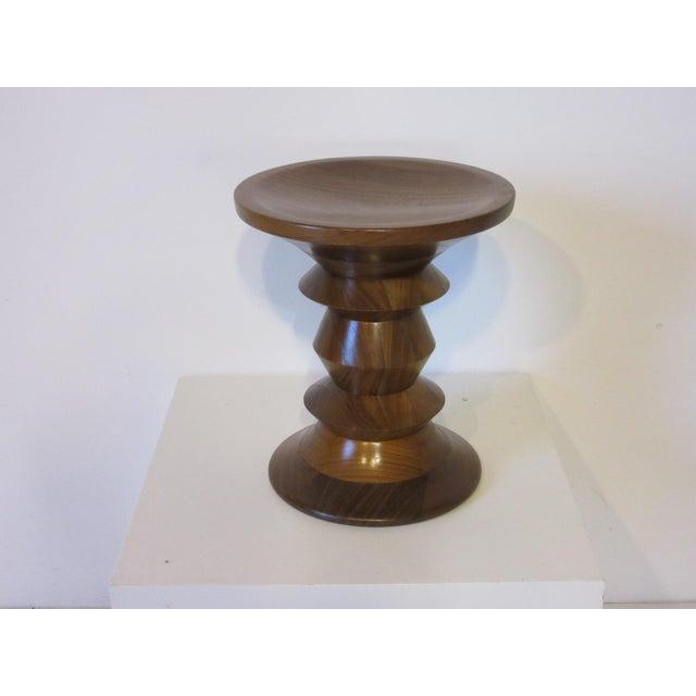 Vintage Eames Walnut Time Life Stool for Herman Miller ( C ) Model For Sale - Image 9 of 9