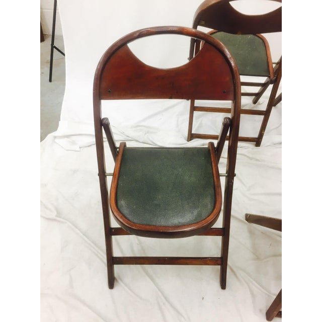 Brown Vintage Bentwood Folding Chairs - Set of 6 For Sale - Image 8 of 11