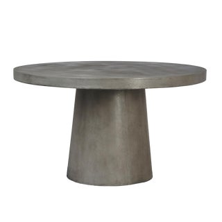 Modern Cement Round Pedestal Table For Sale