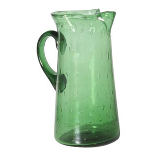 Empoli Green Pitcher, C. 1950 For Sale