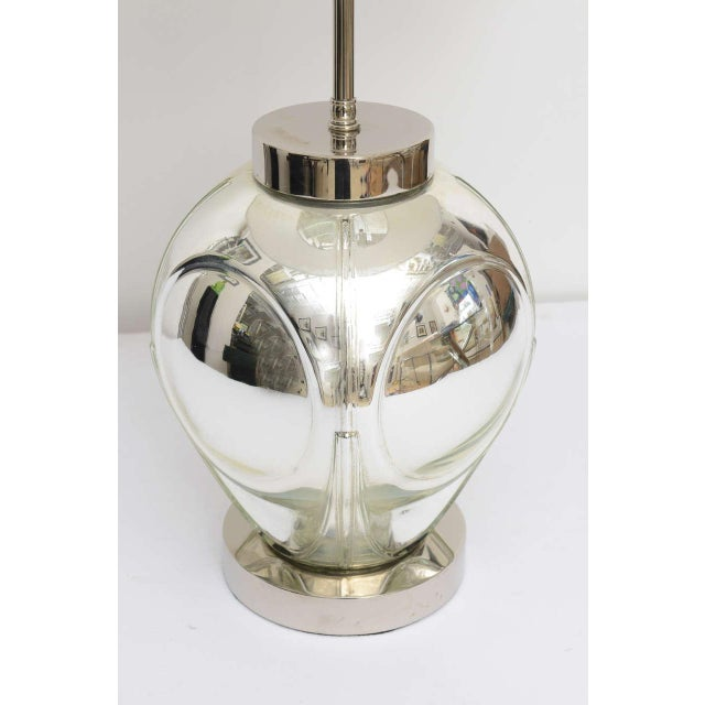 Mid-Century Modern Polished Chrome & Mercury Glass Table Lamp Base For Sale In San Francisco - Image 6 of 10