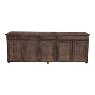 Moorish Carved Long Sideboard For Sale