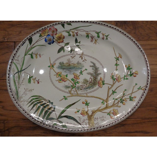 1800s S H Sampson Hancock English Large Platter - Image 2 of 5