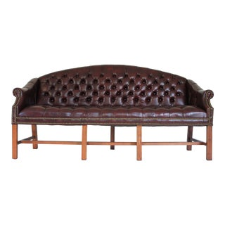 Tufted Leather Sofa For Sale