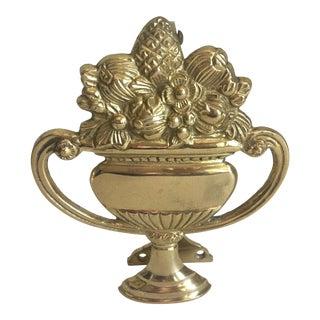Brass Urn Door Knocker For Sale