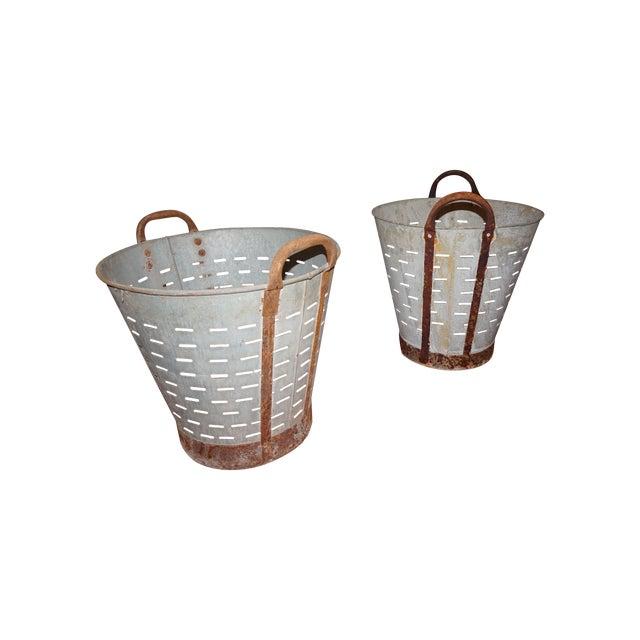 Vintage Metal Olive Bucket - Image 5 of 5