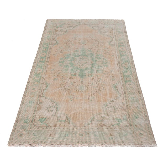 Handknotted vintage rug from Oushak region of Turkey. Approximately 45-60 years old . In very good condition
