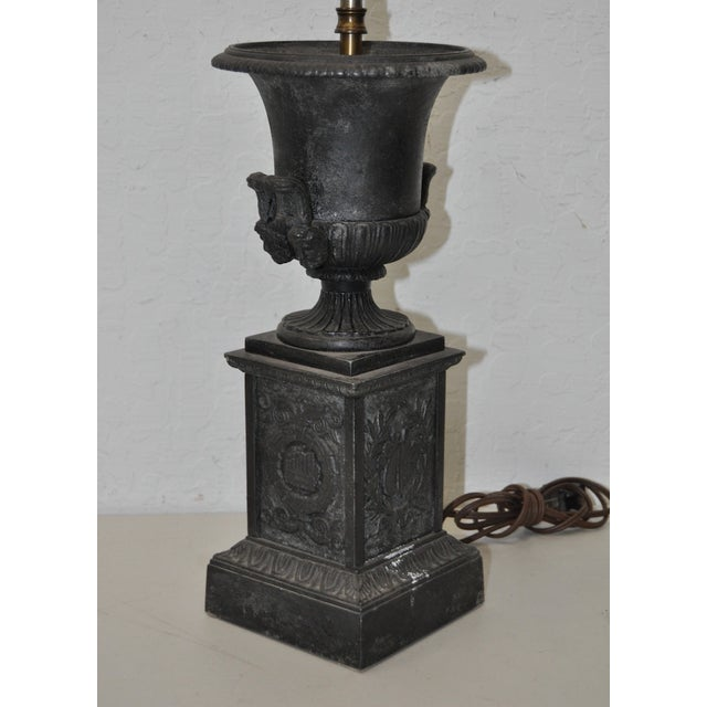 Victorian Cast Iron Urn Table Lamp For Sale In San Francisco - Image 6 of 8