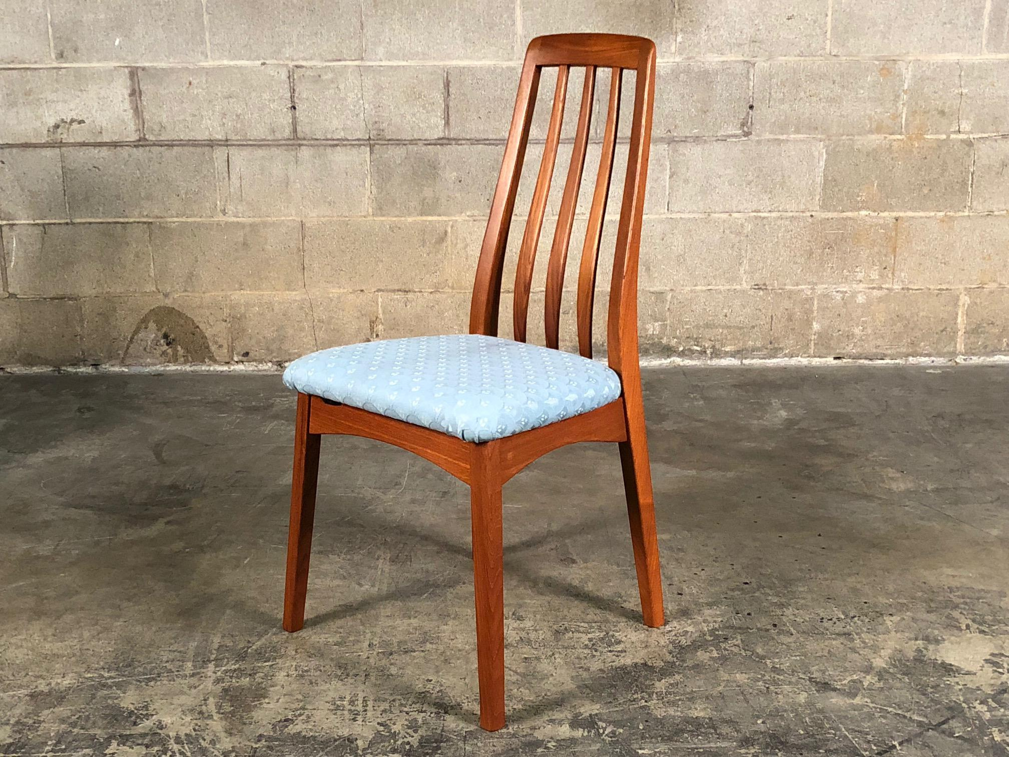 Danish Modern Benny Linden Teak Dining Chairs   Set Of 4 For Sale   Image 4