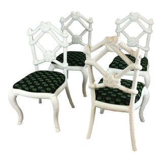 Designer Rope Chairs - Set of 4 For Sale
