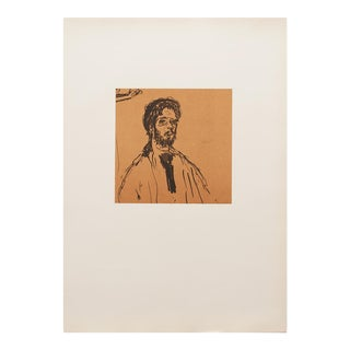 "1959 Pierre Bonnard ""Self-Portrait"" Original Period Hungarian Lithograph For Sale"