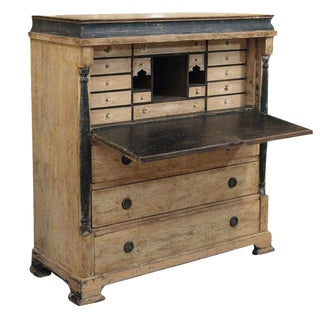 Early Painted Swedish Secretary For Sale