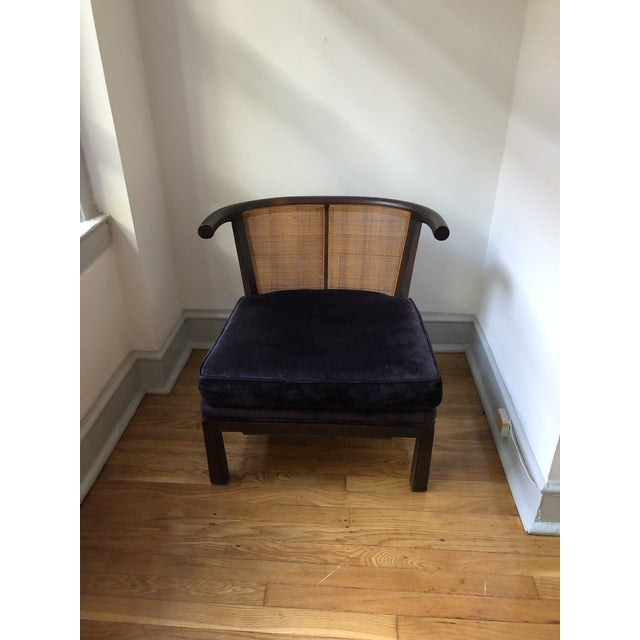 1960s Mid-Century Asian Slipper Chair For Sale - Image 5 of 12