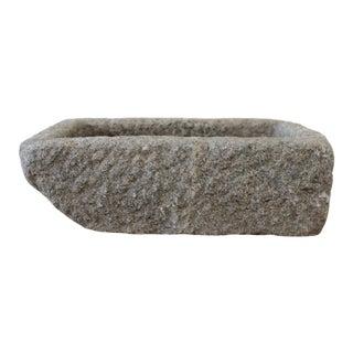Vintage Carved Stone Mortar For Sale