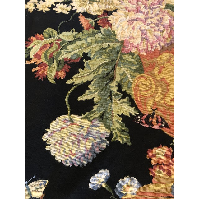 Large Vintage Hanging French Tapestry Wall Art For Sale In Philadelphia - Image 6 of 11