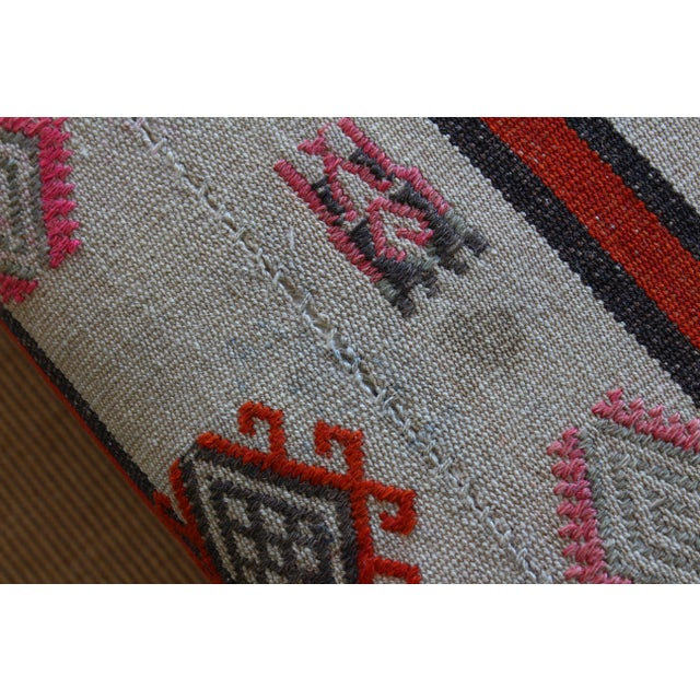 Ottoman Upholstered in a Vintage Rug For Sale In Los Angeles - Image 6 of 10