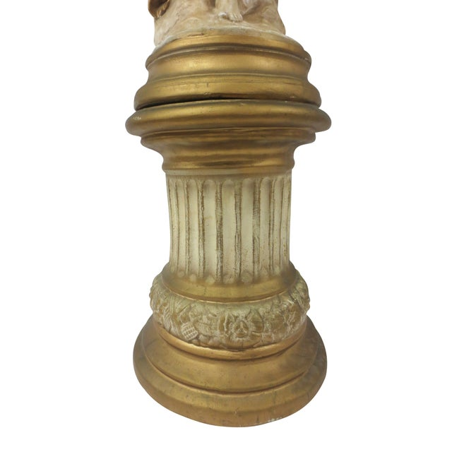 Gilt Classical Statue On Pedestal - Image 2 of 9