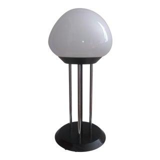Laurel Black & Chrome Mushroom Lamp For Sale