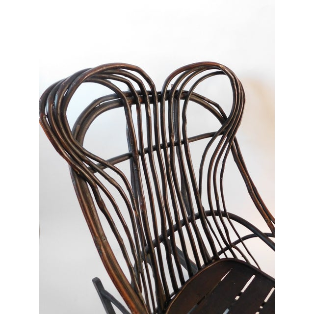American 20th C. American Adirondack Twig Willow Rocking Chair For Sale - Image 3 of 13