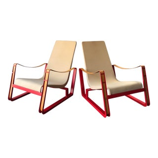 """1930s Vintage Vitra Jean Prouve """"Cite"""" Lounge Chairs - a Pair For Sale"""