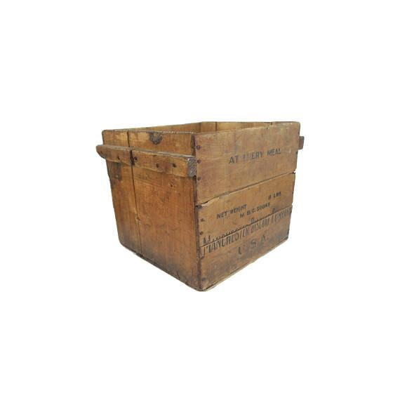 Antique Manchester Biscuit Company large wooden crate or box Vintage item from the 1950s Material: Wood Good sturdy...